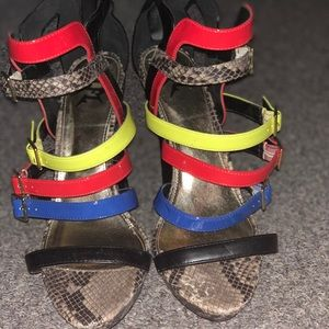 Lfl Multicolor strappy heels
